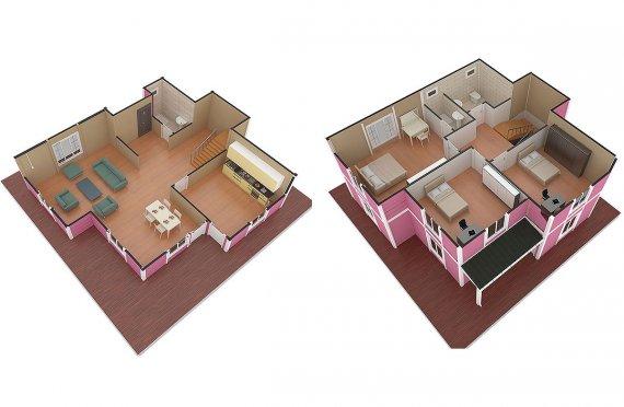 ასაწყობი სახლი 147 კვ.მ