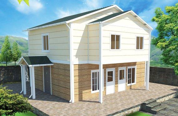 ასაწყობი სახლი 114 კვ.მ