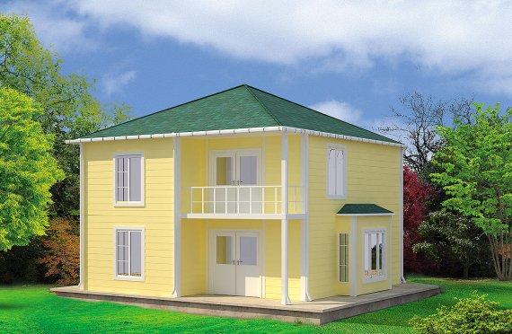ასაწყობი სახლი 124 კვ.მ