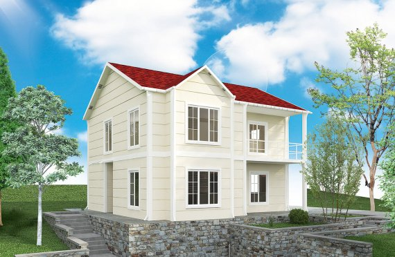 ასაწყობი სახლი 132 კვ.მ