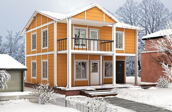 ასაწყობი სახლი 112 კვ.მ