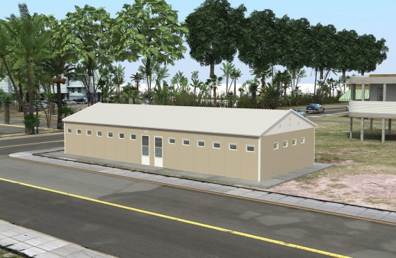 ასაწყობი საპირფარეშო&საშხაპე შენობა 145 კვ.მ
