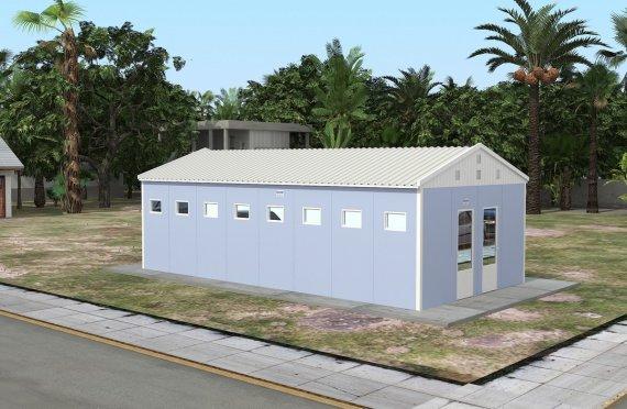ასაწყობი საპირფარეშო&საშხაპე შენობა 52 კვ.მ