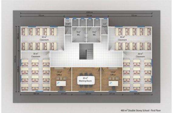 პორტალური საკლასო ოთახი 480 კვ.მ