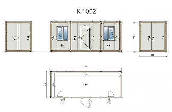 ბინის პაკეტის საოფისე კონტეინერი K1002