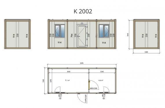 ბინის პაკეტის საოფისე კონტეინერი K2002