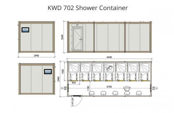 KWD 702  საშხაპე კონტეინერიr