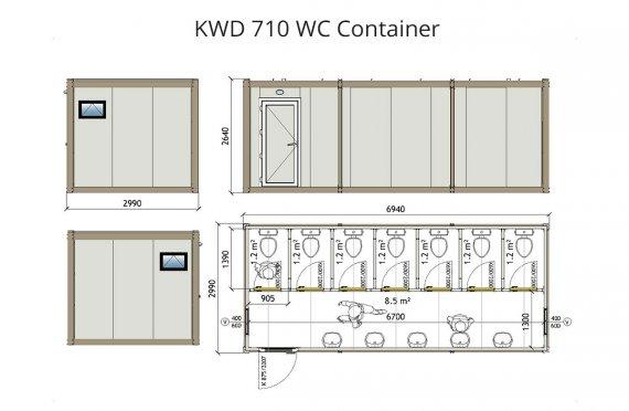 KWD 710 საპირფარეშო კონტეინერი
