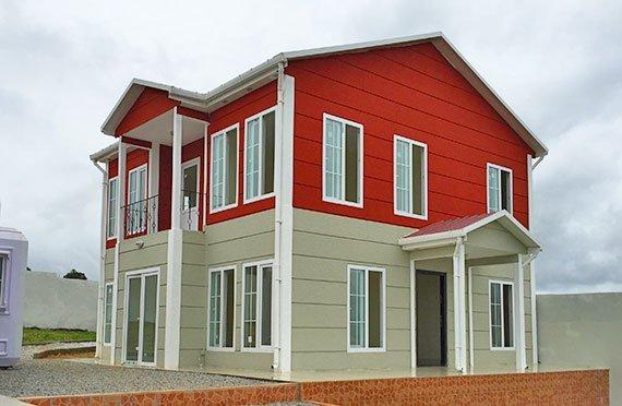 ორსართულიანი ასაწყობი სახლები