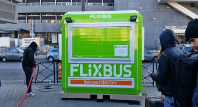 """""""Flixbus""""-ის ბილეთების გასაყიდი კაბინები """"კარმოდისგან"""""""